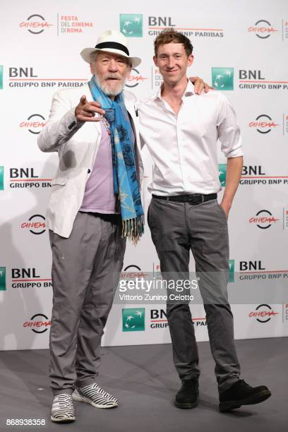 Joe Stephenson and Ian McKellen attend 'McKellen Playing The Part' photocall during the 12th Rome Film Fest at Auditorium Parco Della Musica on...