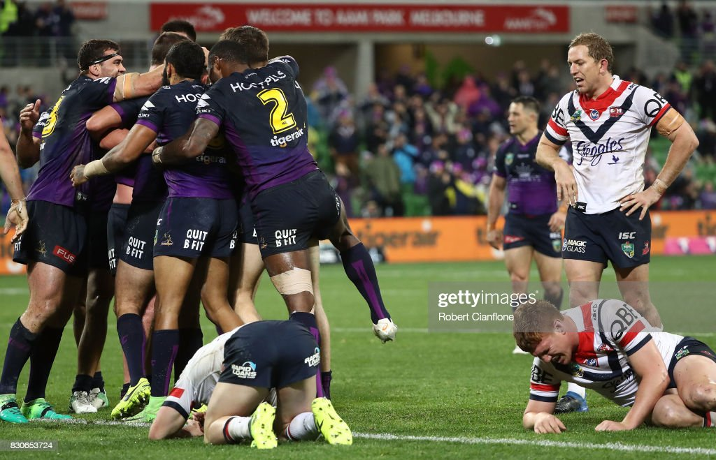 NRL Rd 23 - Storm v Roosters : News Photo