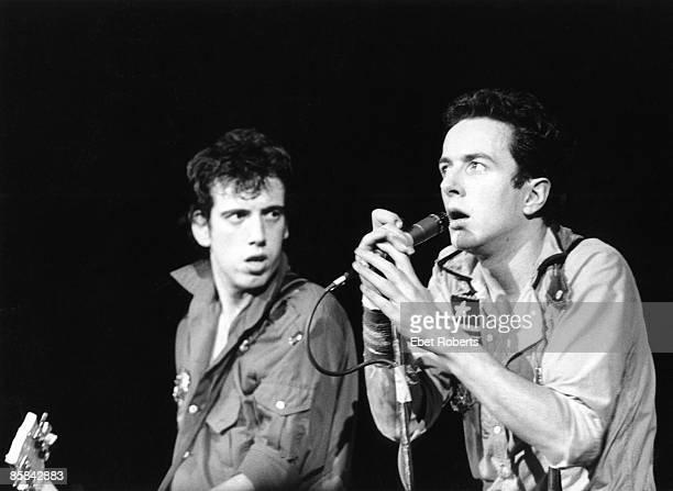 Joe STRUMMER and Mick JONES and CLASH, Mick Jones & Joe Strummer performing live onstage at first US gig