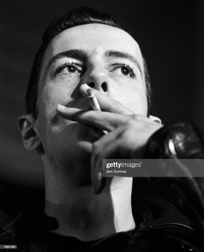 Joe Strummer, lead singer of the Clash, attends a press conference in1983 in Los Angeles. Strummer died of a heart attack in January, 2003.