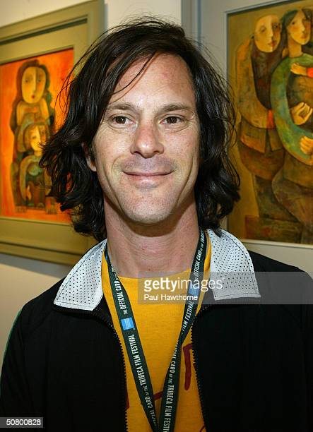 Joe Strummer Let's Rock Again filmmaker Dick Rude poses at the Kodak Producers' Reception during the 2004 Tribeca Film Festival at Tribeca Performing...