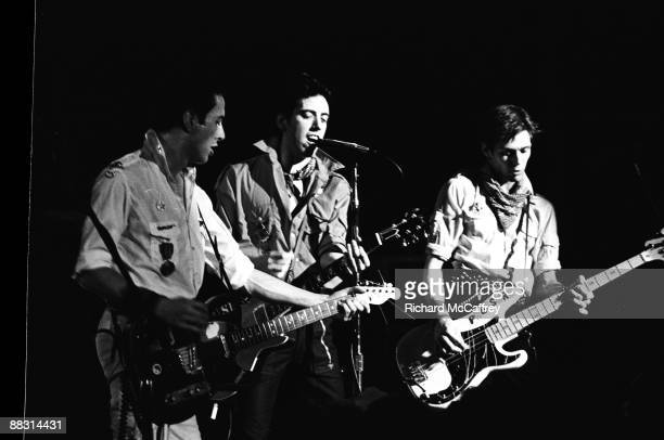 Joe Strummer, Mick Jones and Paul Simonon of The Clash perform live in 1979 in San Francisco, California.