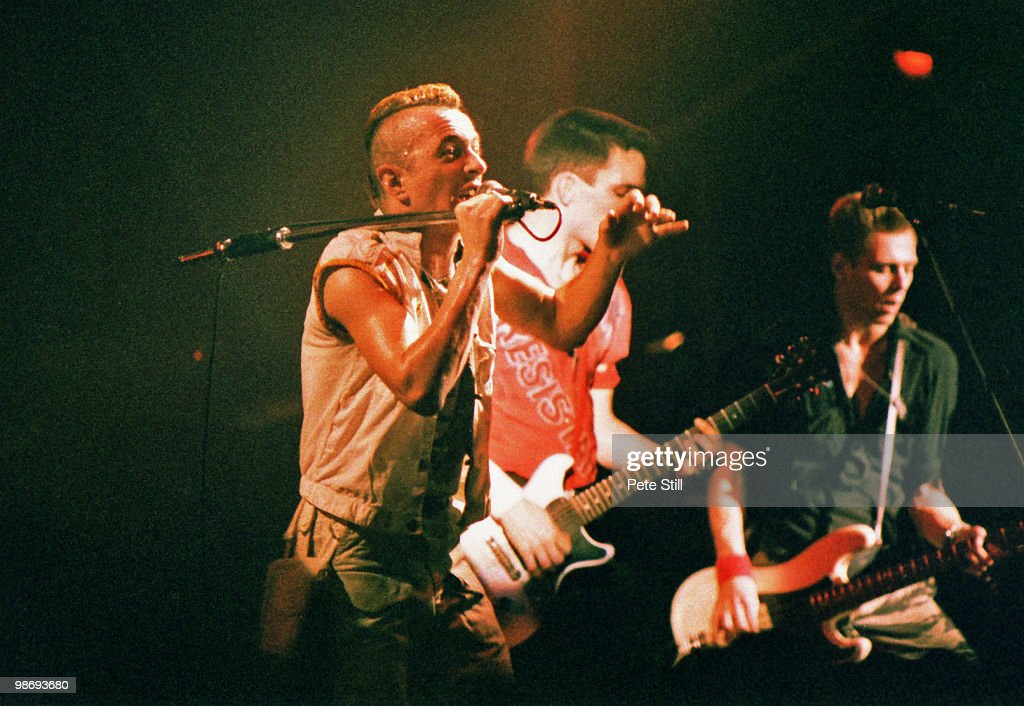 The Clash Perform At Brixton Academy In 1984 : News Photo