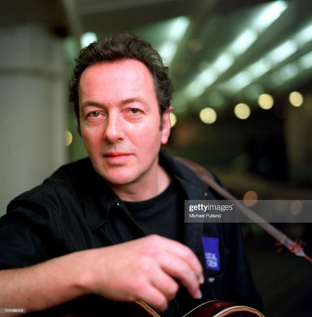 Joe Strummer, portrait, at Poetry Olympics Festival, London, 4th April 2000.