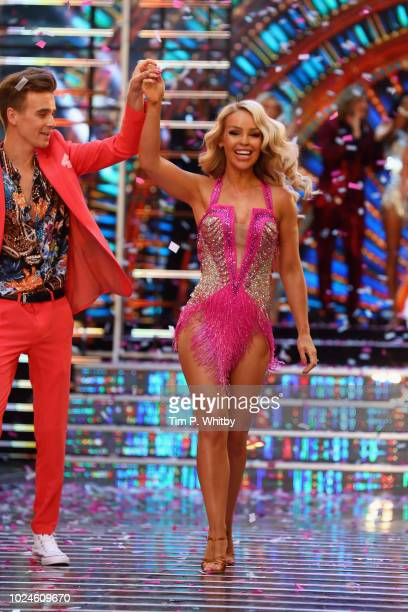 Joe Sugg and Katie Piper attend the red carpet launch for 'Strictly Come Dancing 2018' at Old Broadcasting House on August 27 2018 in London England