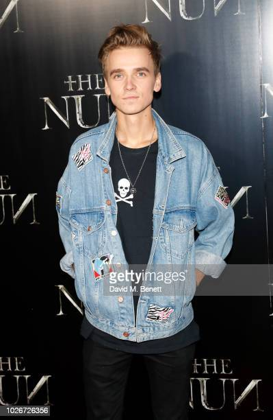 Joe Sugg attends an immersive preview screening of The Nun at Brompton Cemetery on September 4 2018 in London England