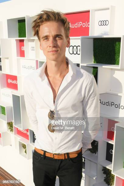 Joe Sugg attends the Audi Polo Challenge at Coworth Park Polo Club on June 30 2018 in Ascot England