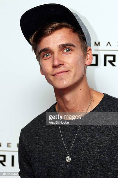 Joe Sugg attends the Maze Runner The Scorch Trials UK Fan Event on September 7 2015 in London England