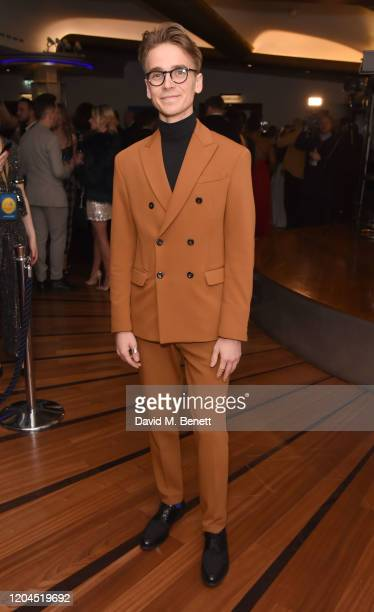 Joe Sugg attends The WhatsOnStage Awards 2020 at The Prince of Wales Theatre on March 1, 2020 in London, England.
