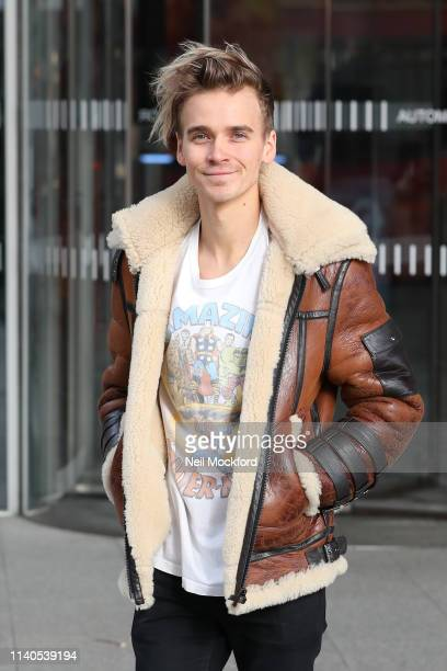 Joe Sugg leaving the Chris Evans Breakfast Show at Virgin Radio on April 05 2019 in London England