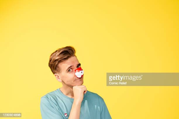 Joe Sugg poses for Red Nose Day 2021 on November 2,2020 in London, England.
