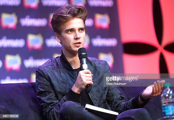 Joe Sugg speaks at Stream Con NYC 2015 on October 31 2015 in New York City