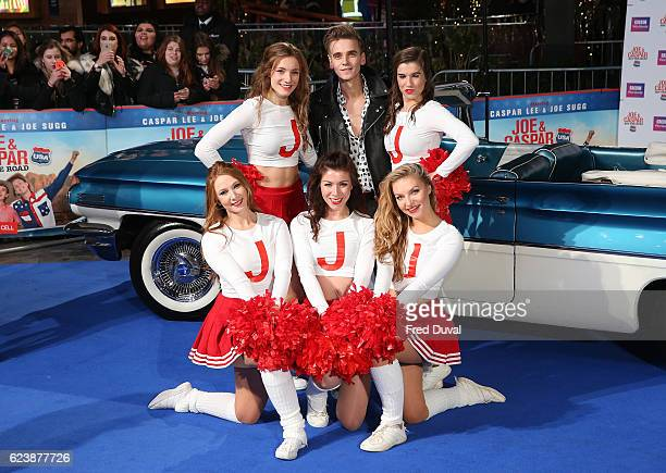 Joe Suggs attends the UK Premiere of Joe Casper Hit The Road USA at Cineworld Leicester Square on November 17 2016 in London England