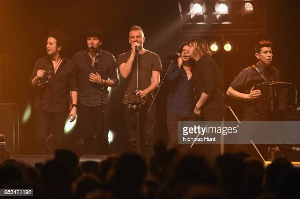 Joe Sumner and The Last Bandoleros perform onstage during the Sting 57th 9th World Tour at Hammerstein Ballroom on March 14 2017 in New York City
