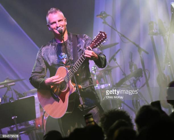 Joe Sumner performs during the Celebrating David Bowie concert at Buckhead Theatre on March 18 2018 in Atlanta Georgia