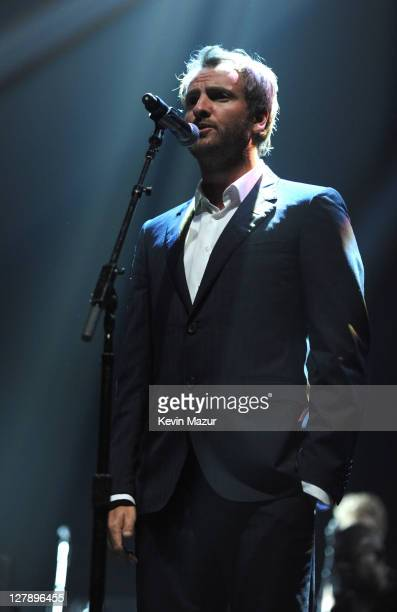 Joe Sumner performs on stage during STING 25th Anniversary/60th Birthday Concert to Benefit Robin Hood Foundation at Beacon Theatre on October 1 2011...