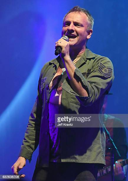 Joe Sumner performs onstage at 'Celebrating David Bowie' at The Wiltern on January 24 2017 in Los Angeles California