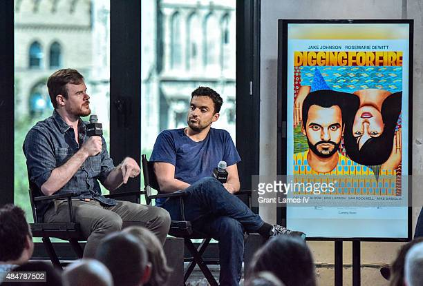 Joe Swanberg and Jake Johnson attend the AOL's BUILD Speaker Series Presents 'Digging For Fire' at AOL Studios in New York on August 21 2015 in New...