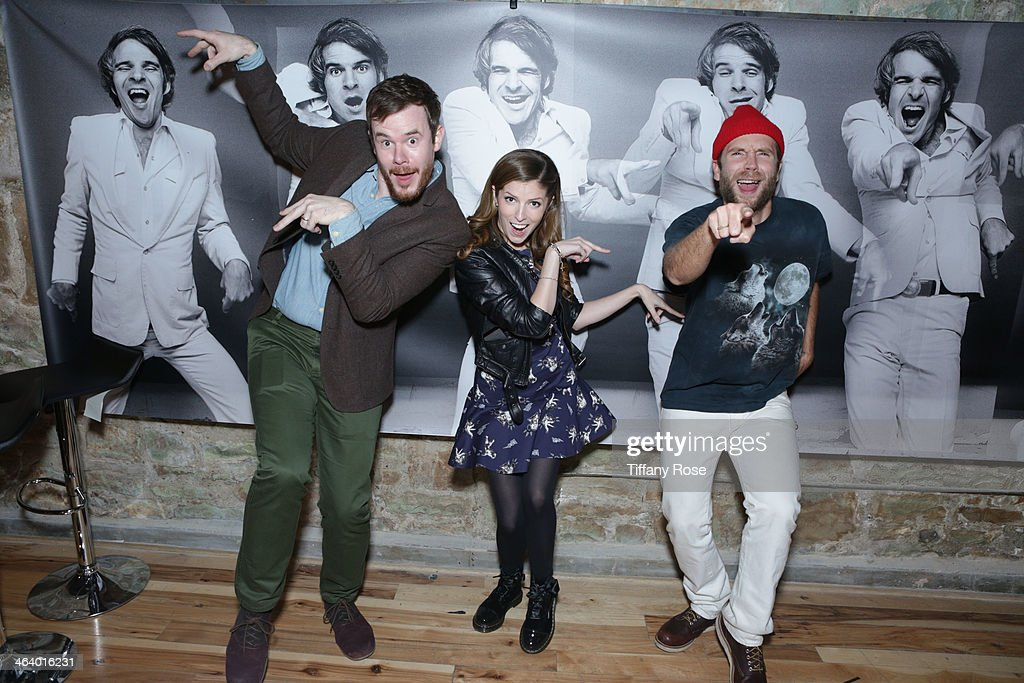 Joe Swanberg, Anna Kendrick and Mark Webber attend ChefDance Sponsored By SUJA Juices, El Tesoro Tequila & Sunrider on January 19, 2014 in Park City, Utah.