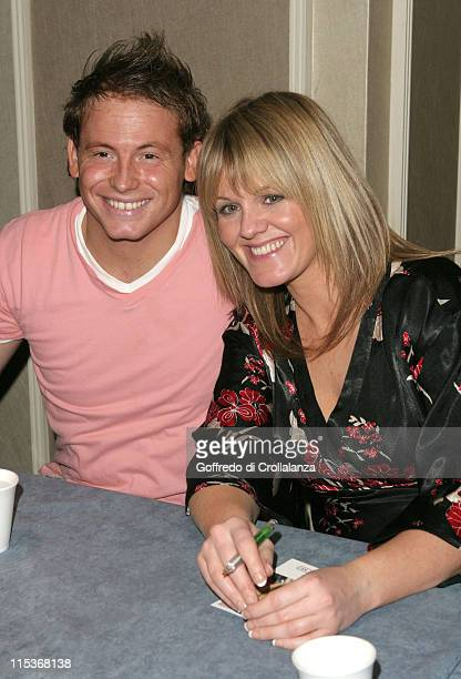 Joe Swash and Sally Lindsay during London Taxi Drivers' Fund for Underpriviledged Children at Grosvenor House in London England United Kingdom