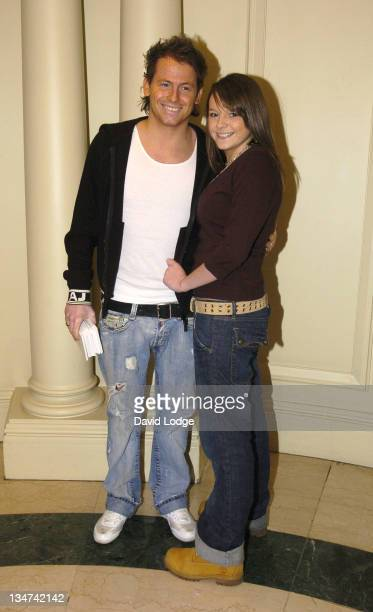 Joe Swash and Shana Swash during Mad Hatter's Tea Party Photocall January 22 2006 at Grosvenor House Hotel in London Great Britain