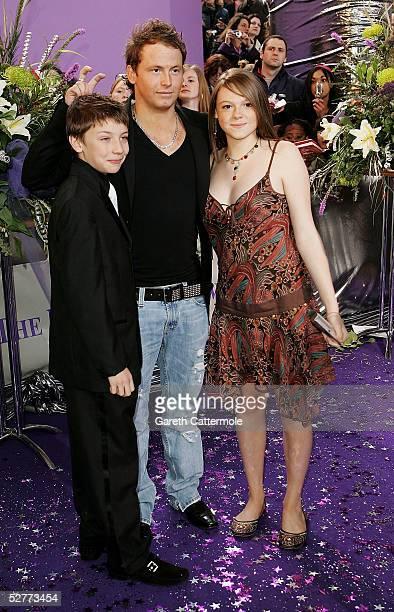 Joe Swash Charlie Hawkins and Shana Swash arrives at the British Soap Awards 2005 at BBC Television Centre on May 7 2005 in London England The annual...