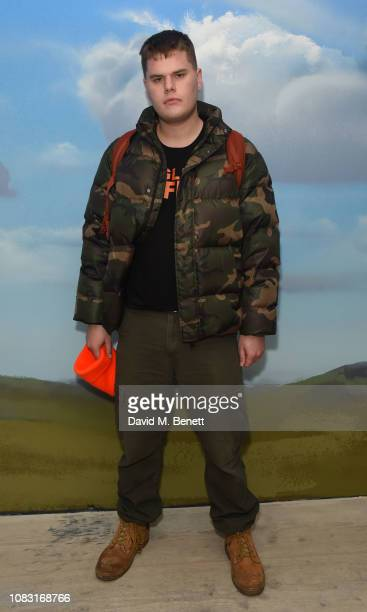 Joe Sweeney attends the launch of 'Wiltshire Before Christ' by Aries X Jeremy Deller x David Sims at The Store X 180 The Strand on January 15 2019 in...