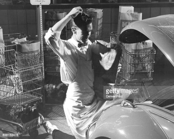 Joe Sweet Studies a Grocery Caddy's most Perplexing Problem How do you squeeze three or four bags of groceries into trunk of small foreign car Credit...