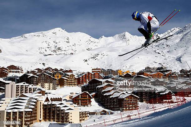 Joe Swensson of USA takes 3rd place competes during the FIS Freestyle Ski World Cup Men's and Women's Ski Cross on December 19 2012 in Val Thorens...