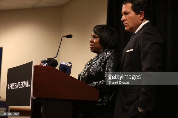 Joe Tacopina and Kathy Williams attend Reform Bringing Injustice To Light at Irvine Auditorium on March 13 2018 in Philadelphia Pennsylvania