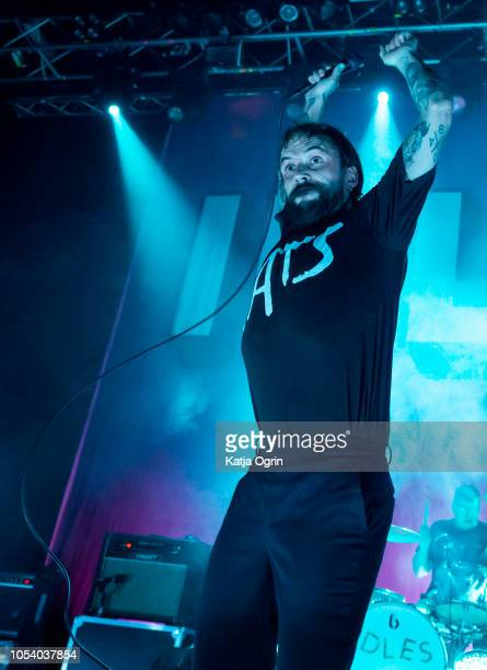 Joe Talbot of Idles performs at The O2 Institute Birmingham on October 26, 2018 in Birmingham, England.