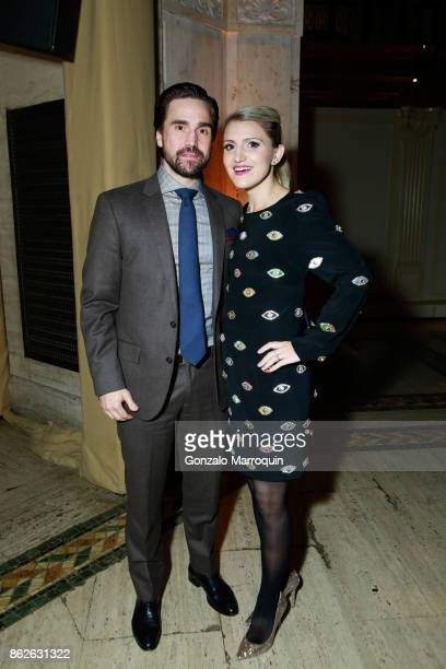 Joe Tapper and his wife Annaleigh Ashford during the Skin Cancer Foundation's Champions for Change Gala at Cipriani 25 Broadway on October 17 2017 in...