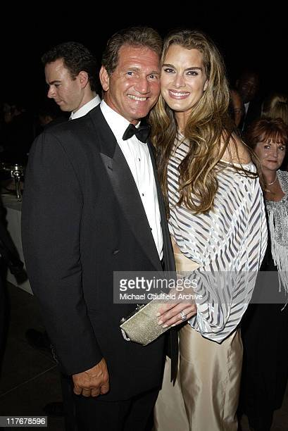 Joe Theisman and Brooke Shields during 2002 ESPY Awards - After Party at The Highlands in Hollywood, California, United States.