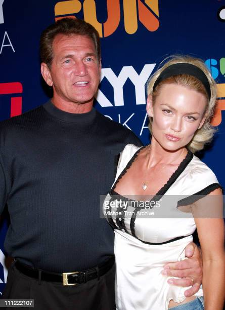 Joe Theisman and Kelly Carlson during ESPN The Magazine Presents Summer Fun 2006 - Arrivals at The Roosevelt Hotel in Hollywood, California, United...