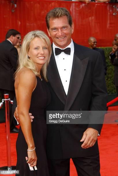 Joe Theisman & Sonya during 2003 ESPY Awards - Arrivals at Kodak Theatre in Hollywood, California, United States.