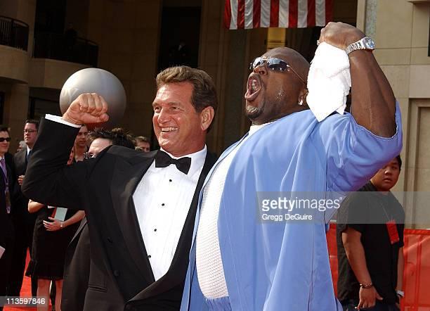 Joe Theisman & Terry Tate during 2003 ESPY Awards - Arrivals at Kodak Theatre in Hollywood, California, United States.