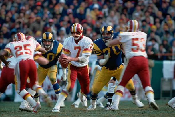 Joe Theismann with the Football