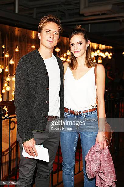 Joe Thomas and Hannah Tointon attend a gala screening of 'Hunt for the Wilderpeople' at the Picturehouse Central on September 13 2016 in London...