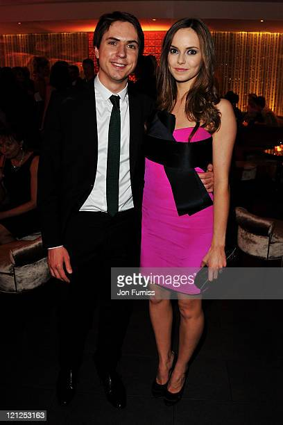 Joe Thomas and Hannah Tointon attend the Inbetweeners Movie world premiere afterparty at Aqua Kyoto on August 16 2011 in London England