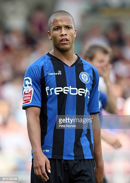 Joe Thompson of Rochdale in action during the Coca Cola League Two Match between Northampton Town and Rochdale at Sixfields Stadium on September 19...