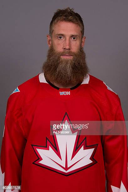 Joe Thornton of Team Canada poses for his official headshot for the 2016 World Cup of Hockey Tournament on September 5 2016 at the Westin Ottawa in...