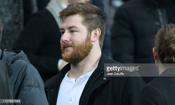 Joe Thuney who just won the Super Bowl with the New England Patriots attends the French Cup quarterfinal match between Paris SaintGermain and Dijon...