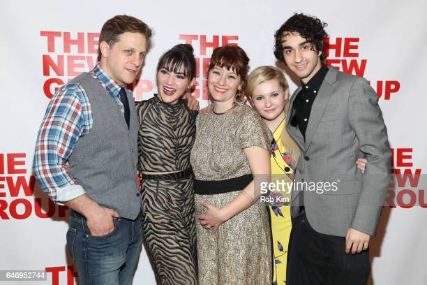 Joe Tippett Isabelle Fuhrman director Erica Schmidt Abigail Breslin and Alex Wolff attend All The Fine Boys Opening Night on March 1 2017 in New York...