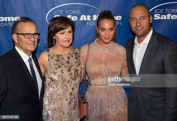 Joe Torre Alice Wolterman Hannah Davis and Derek Jeter attend 14th Annual Joe Torre Safe At Home Foundation Celebrity Gala at Cipriani 25 Broadway on...