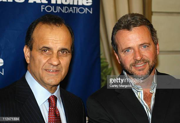 Joe Torre and Aidan Quinn during Joe Torre Safe at Home Foundation's Second Annual Gala at Pierre Hotel in New York City New York United States