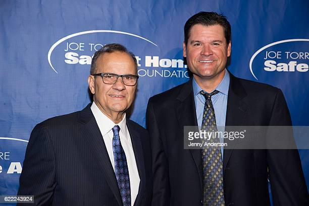 Joe Torre and Andy Fox attend 14th Annual Joe Torre Safe At Home Foundation Celebrity Gala at Cipriani 25 Broadway on November 10 2016 in New York...
