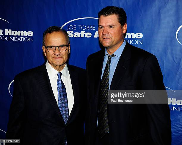Joe Torre and Andy Fox attend the Joe Torre Safe At Home Foundation's 14th Annual Celebrity Gala at Cipriani 25 Broadway on November 9 2016 in New...