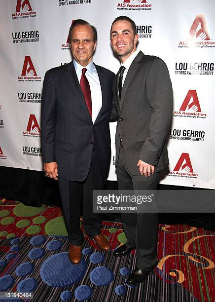 Joe Torre and David Wright attend the 17th Annual Lou Gehrig Sports Awards Benefit at The New York Marriott Marquis on November 8 2011 in New York...