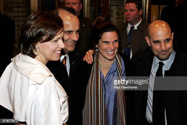 Joe Torre and his wife Ali Torre along with Stanley Tucci and his wife Kate attend the opening night of 700 Sundays at the Broadhurst Theatre...