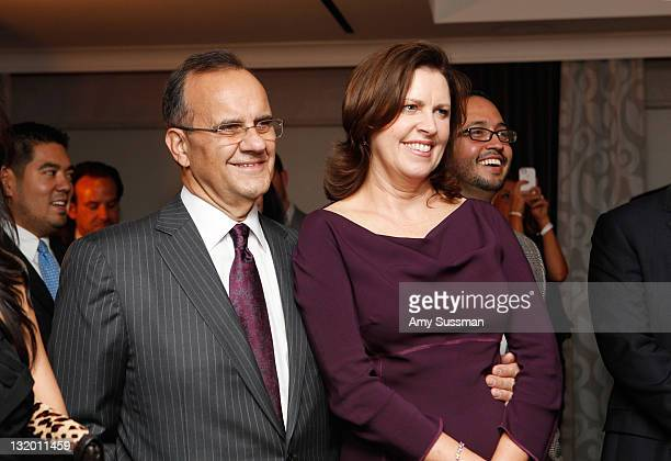 Joe Torre and his wife Alice Wolterman attend The Jorge Posada Foundation's Decade of Difference celebration on November 9 2011 in New York City